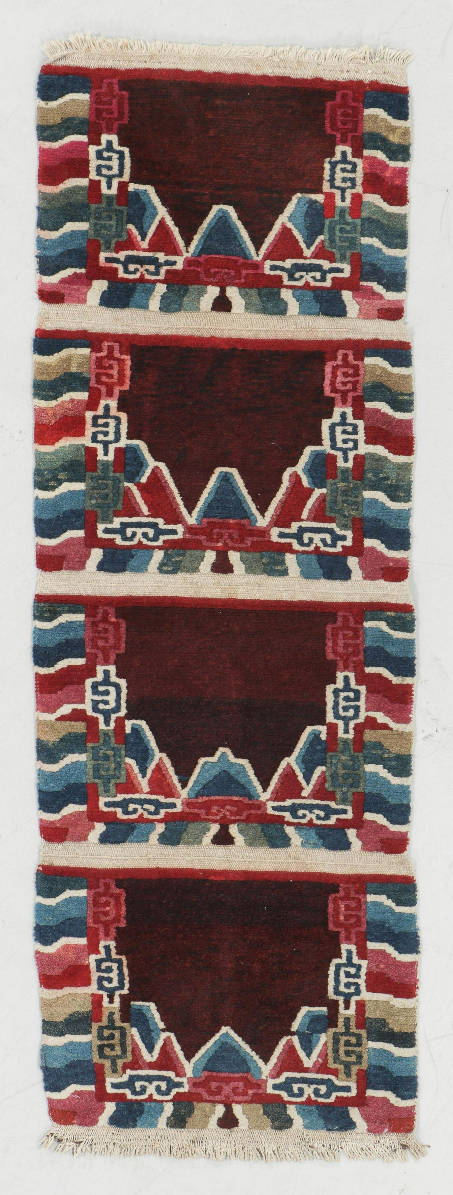 Set of 4 Connected Tibetan Temple Meditation Mats