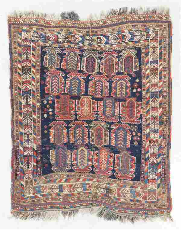 Afshar Rug, Persia, Late 19th C., 3'11'' x 4'10''