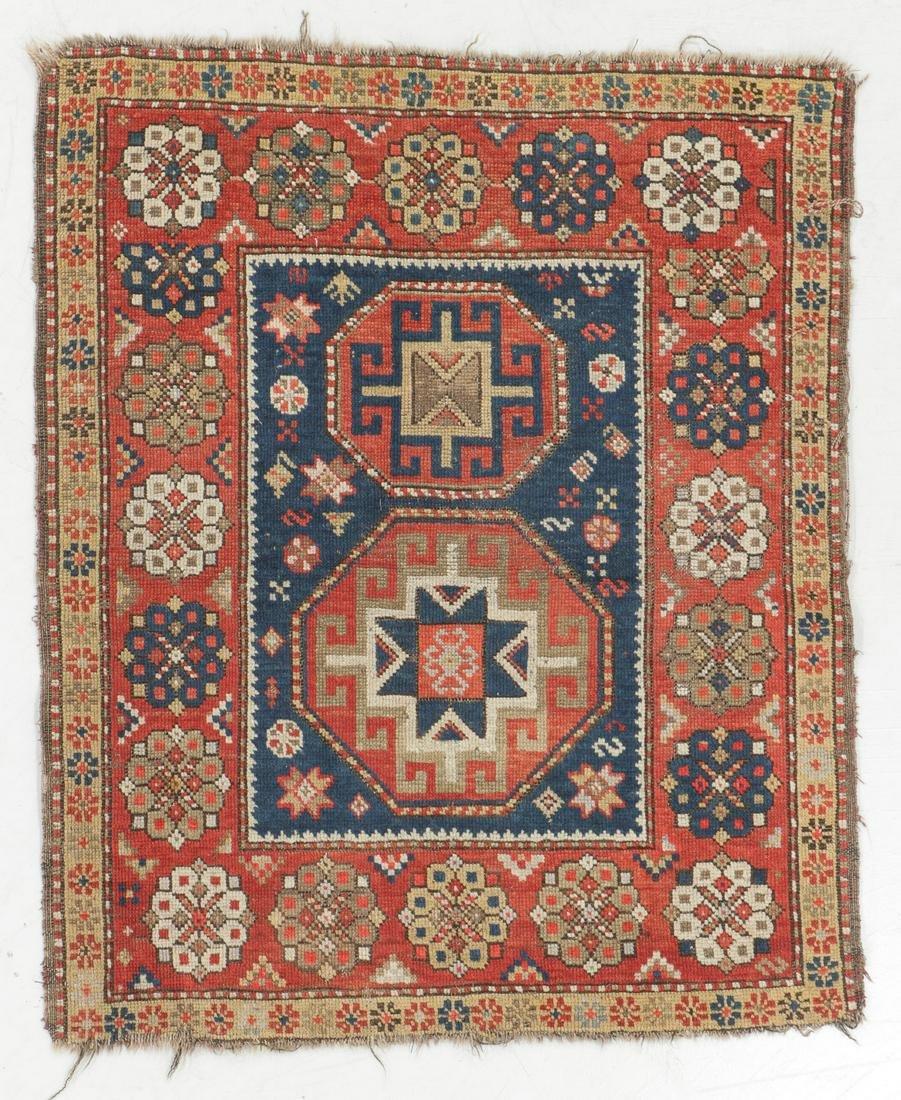 Kazak Rug, Caucasus, Late 19th C., 3'3'' x 4'1''