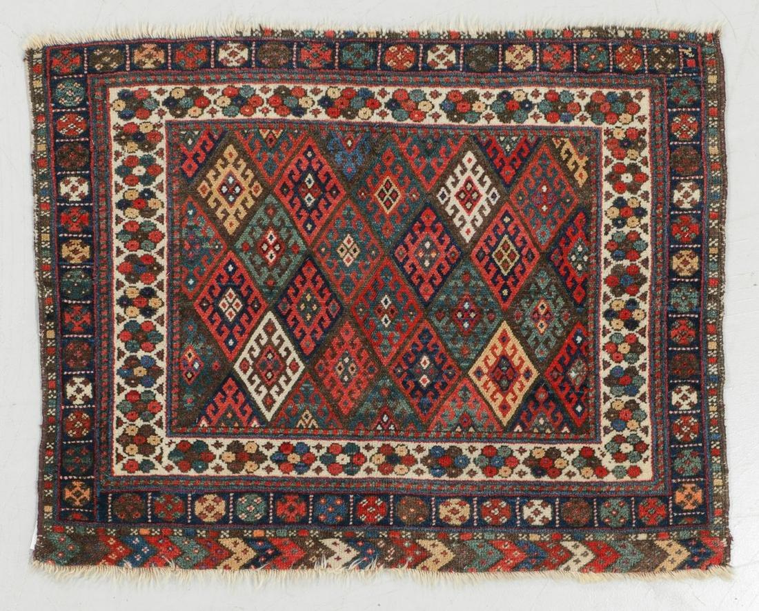 Jaffe Kurd Rug, Persia, Late 19th C., 30'' x 41''