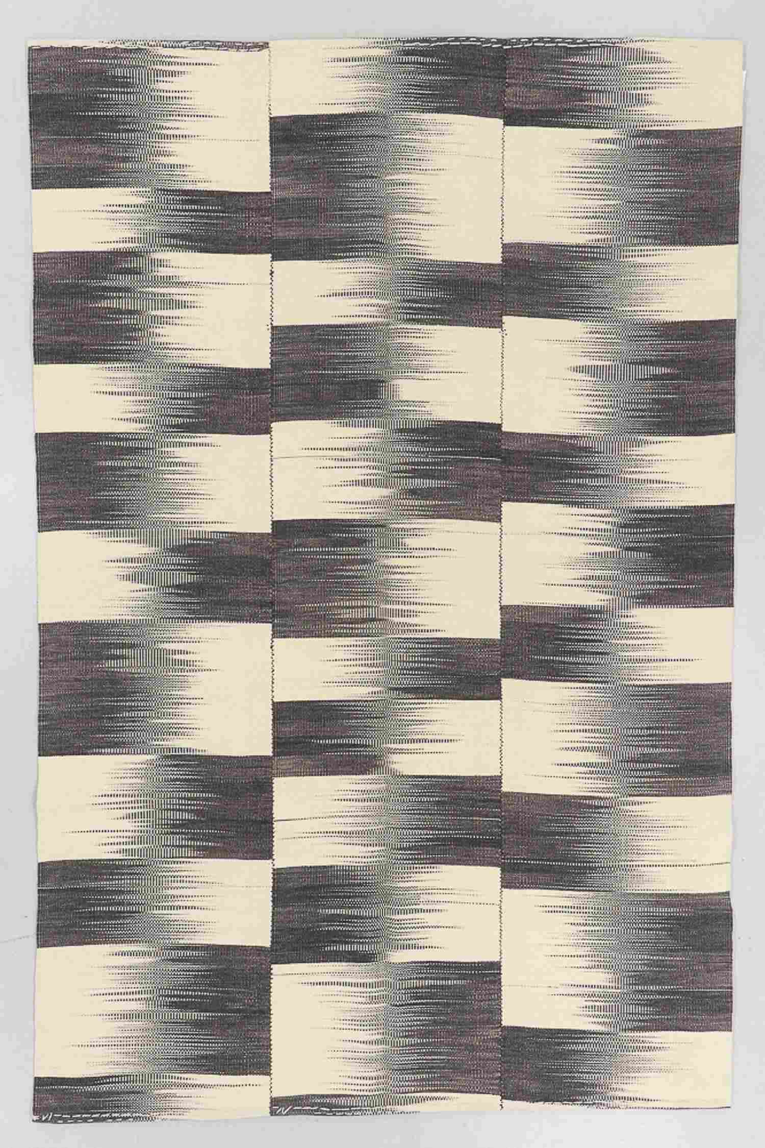 Modern Wool Kilim, Turkey, 6'6'' x 9'10''