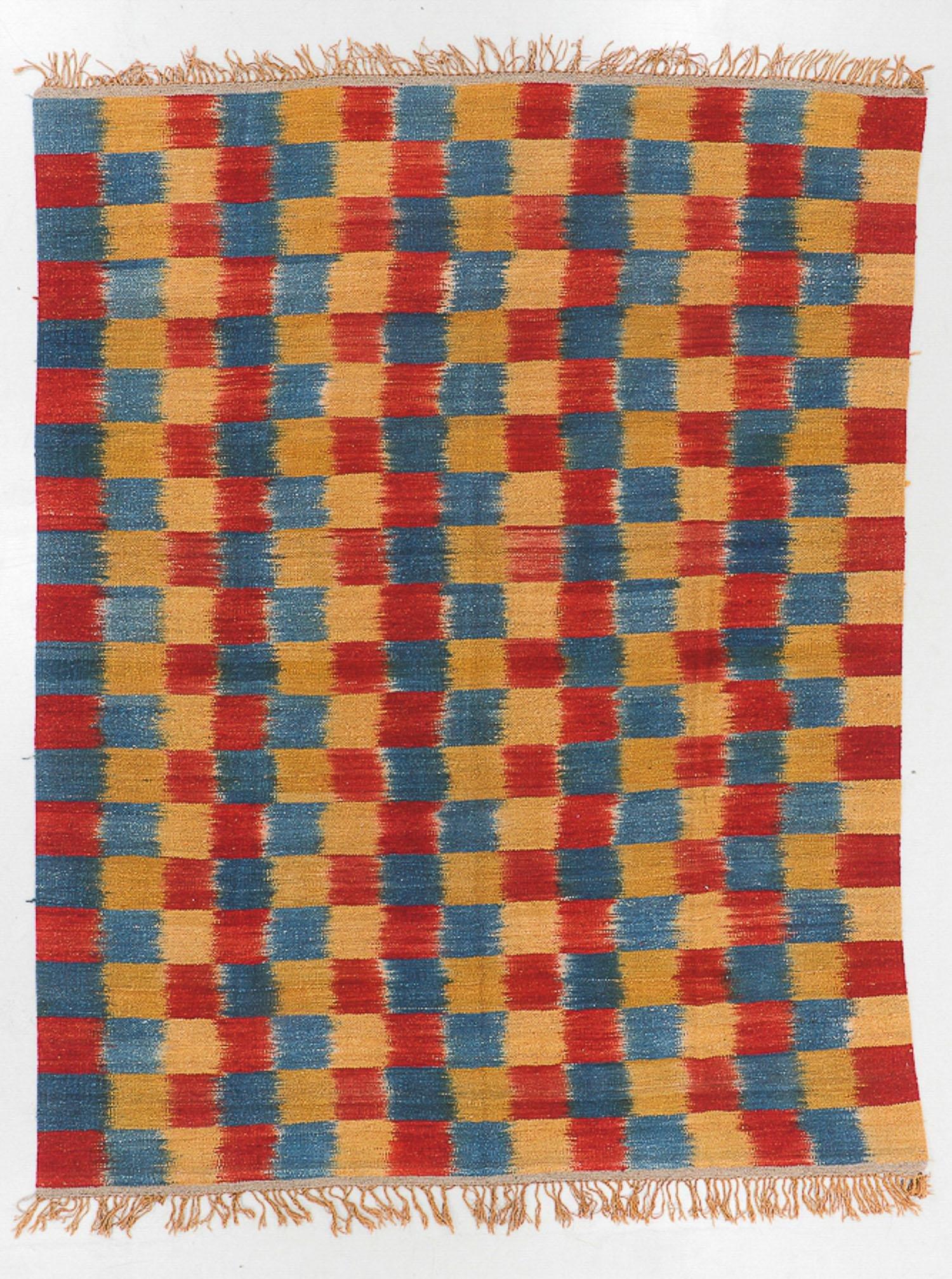 Wool Ikat  Kilim, Nepal, Late 20th C., 8'1'' x 10'6''
