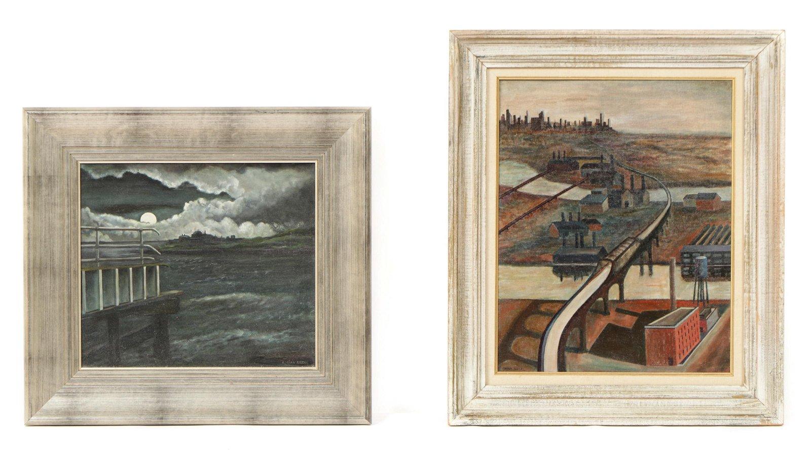 Adrian Siegel (American, 1898-1978) Two Paintings