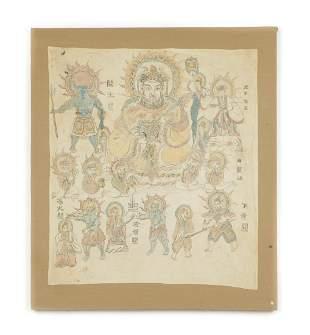 Yao Taoist Ceremonial Painting on Cloth, China