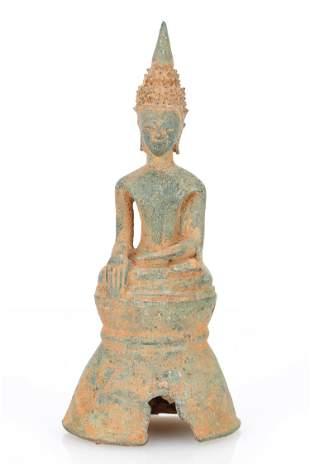 17th/18th C. Bronze Lao Buddha