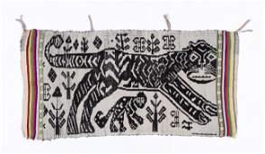 LaoThai Woven Textile with Tiger Motif