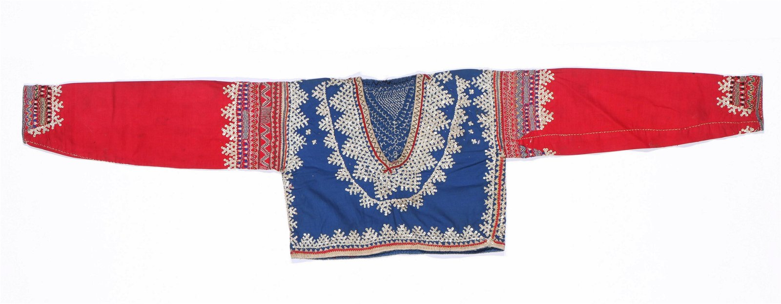 Fine Antique Bagobo Cotton Shirt with Shell Beads