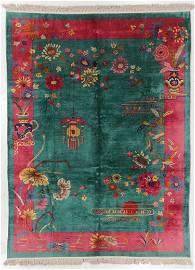 Art Deco Rug , China, Early 20th C., 8'8'' x 11'8''