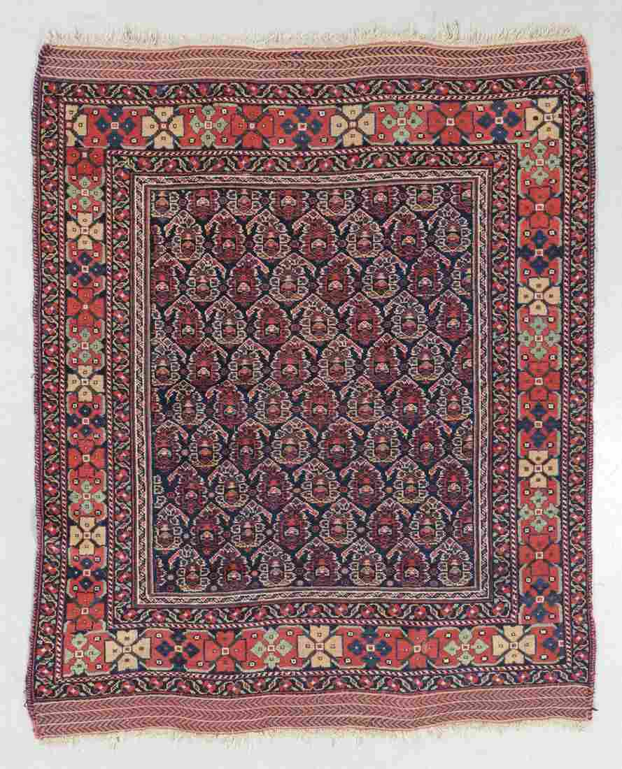 Afshar Rug, Persia, Circa 1900, 4'2'' x 5'2''