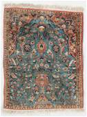 Tabriz Prayer Rug Persia Mid 20th C 22 x 27