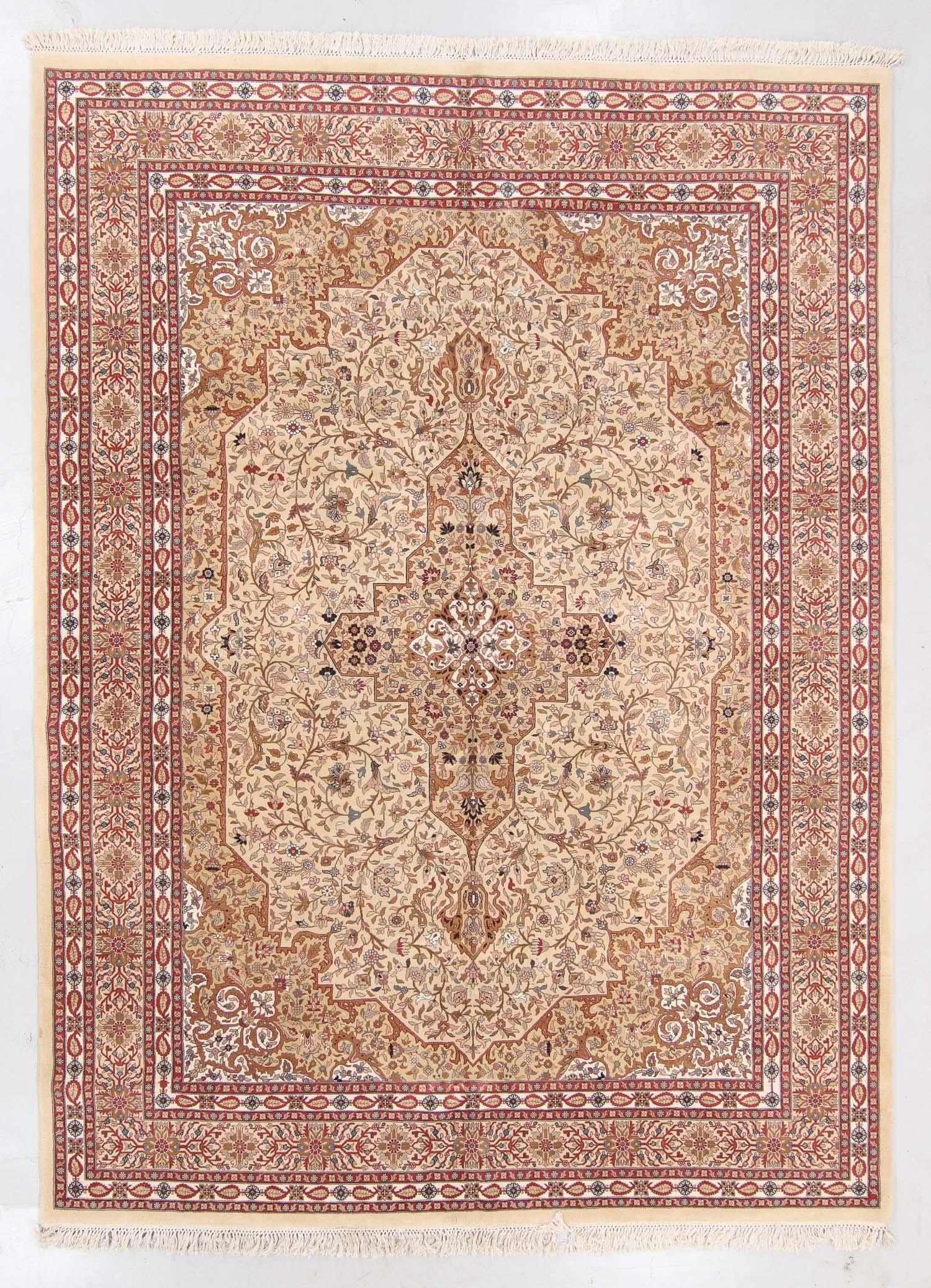 Vintage Tabriz Style Rug, India: 8'11'' x 12'2''