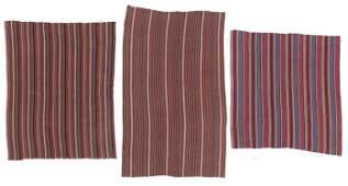 3 Antique East Anatolian Striped Kilims