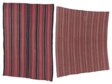 2 Antique East Anatolian Striped Kilims