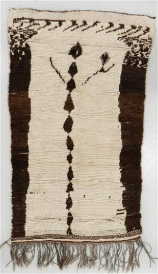 Beni Ourain Rug, Morocco, Early/Mid 20th C., 3'7'' x