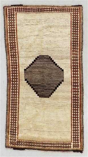Gabbeh Rug, Persia, Mid 20th C., 3'1'' x 5'8''