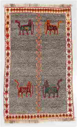 Gabbeh Rug, Persia, Mid 20th C., 3'10'' x 6'5''