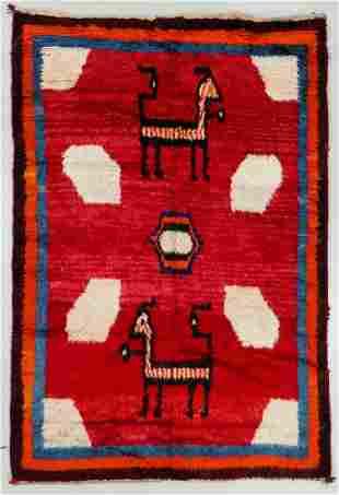 Gabbeh Rug, Persia, Mid 20th C., 5'8'' x 8'6''