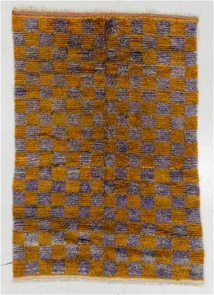 Modernist Wool Pile Rug, Sweden, Mid 20th C., 4'11'' x