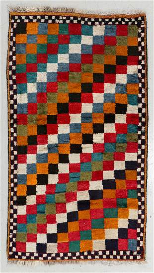 Gabbeh Rug, Persia, Mid 20th C., 3'3'' x 6'3''