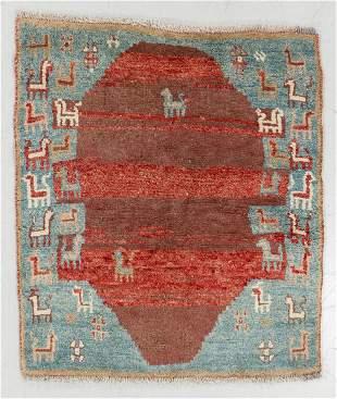 Gabbeh Rug, Persia, Mid 20th C., 3'6'' x 3'10''