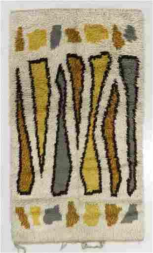 Modernist Pile Rug, Sweden, Mid 20th C., 4'1'' x 6'10''