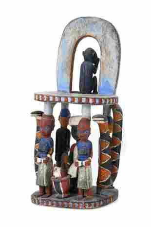 Fine Antique African Yoruba Chair
