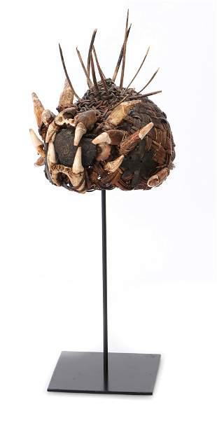 Dayak War Helmet/Headdress, Borneo