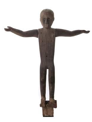 """Iban Dayak Guardian Figure (""""Hampatong""""), Borneo"""