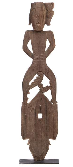 Tunjung Dayak Guardian Figure, Borneo, early 1900s
