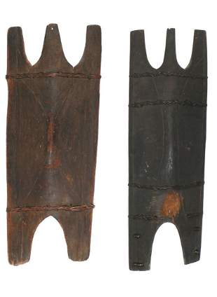 Two Ifugao Shields, Luzon, Philippines, 19th/20th C.