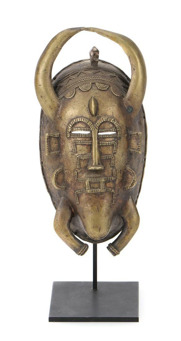 African Senufo Kpelie Bronze Mask