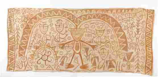 Pre-Columbian Chimu Painted Textile