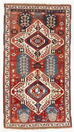 Kazak Rug, Caucasus, 19th C., 4'4'' x 8'1''