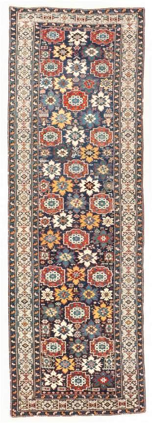Kuba Rug, Caucasus, 19th C., 4'1'' x 12'3''