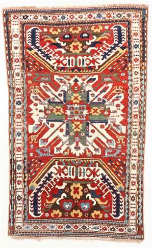 Eagle Kazak Rug, Caucasus, Mid 19th C., 4'6'' x 7'3''