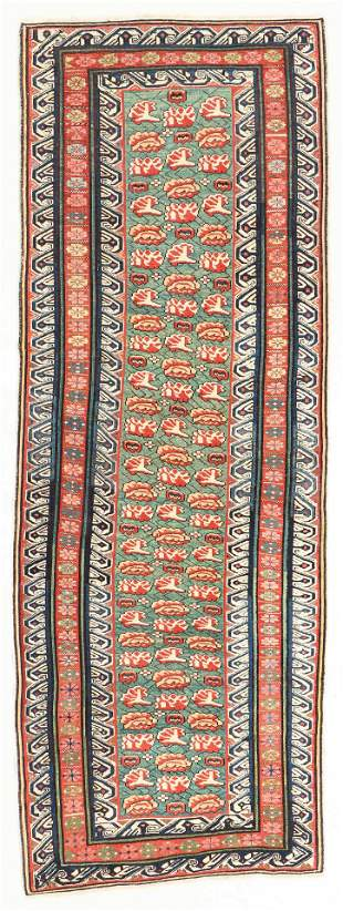 Zeikhur Rug, Caucasus, 19th C., 3'2'' x 9'1''