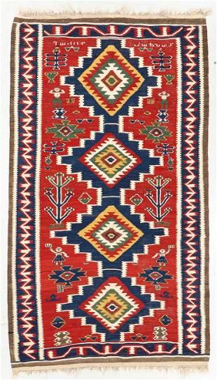 Kuba Kilim, Caucasus, Late 19th C., 5'5'' x 9'6''