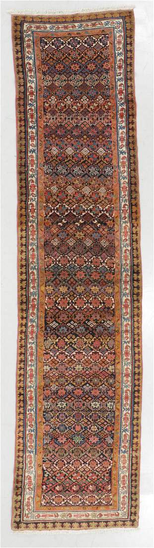 West Persian Kurd Rug, Late 19th C., 3'4'' x 10'1''