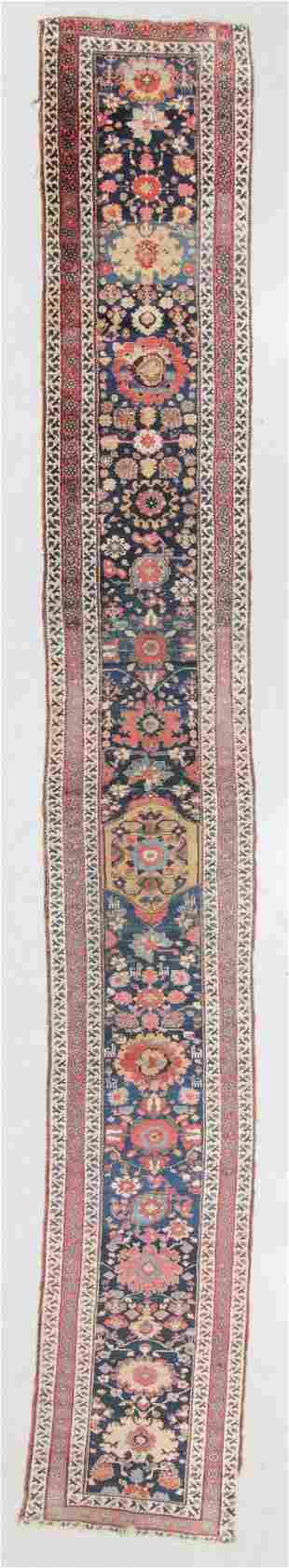 West Persian Kurd Rug, Early 19th C., 2'9'' x 19'11''