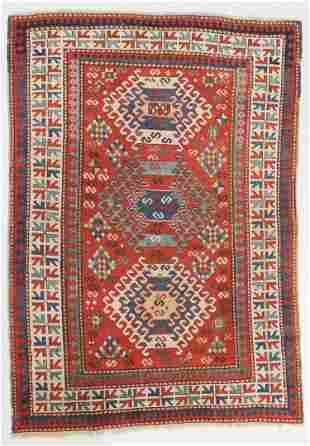 Kazak Rug, Caucasus, Circa 1880, 4'8'' x 6'6'