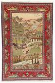 Kashan Pictorial Rug, Persia, Circa 1900, 4'4'' x 6'8''