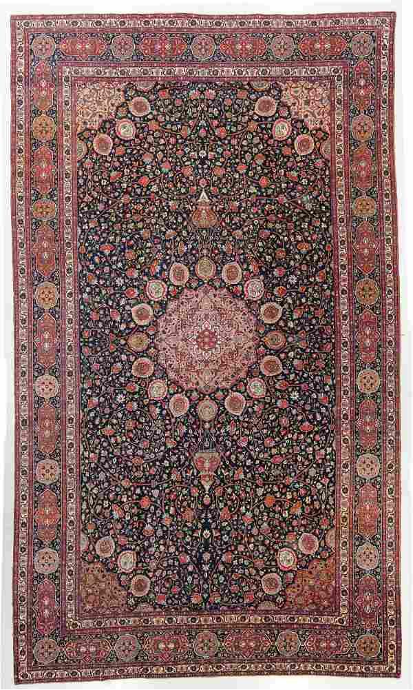 Fine Palace Size Tabriz Rug, Persia, Circa 1900, 14'6''
