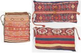 Three East Anatolian Sumak Cargo Bags, Circa 1900