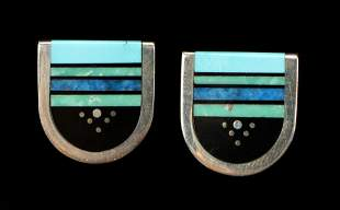 Jim Harrison Navajo/Native American Inlaid Earrings