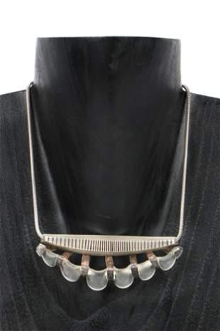 Silver & Glass Necklace by Designer Julie Ann Mihalisin
