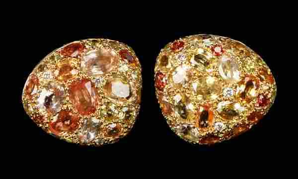 Stunning Dorota Pebble 18k Gold Diamond Earrings