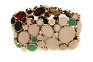 John Iversen 18 kt gold and enamel bracelet, circa 2002