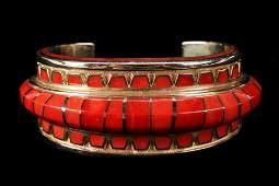 Navajo 14k Gold Bracelet Signed Vernon Haskie
