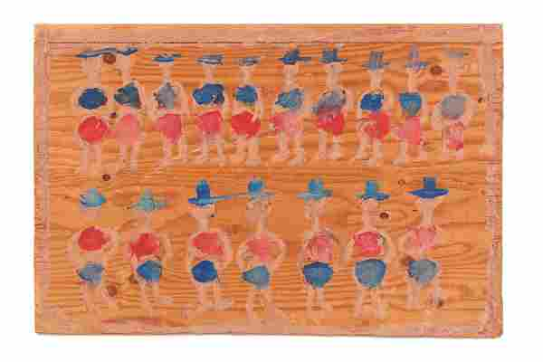 "Jimmy Lee Sudduth (1910-2007) ""Dancers"""