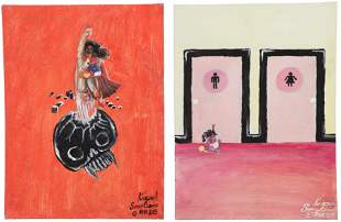 Knicoma Frederick (20th c.) Two Paintings